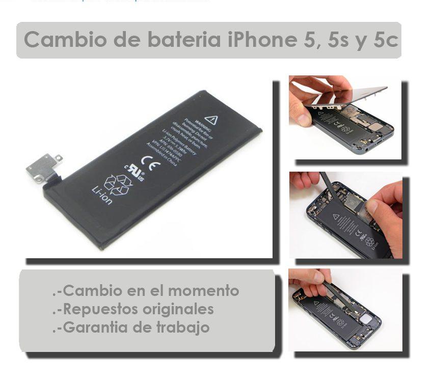 Cambio de Bateria iPhone 5, 5c, 5s