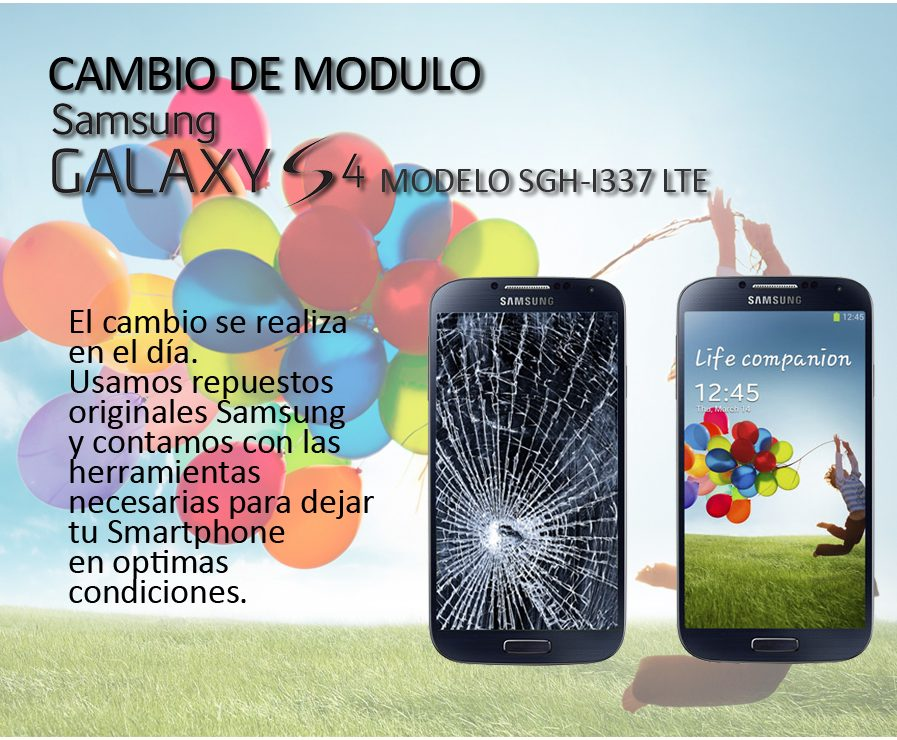 Cambio Modulo Display Samsung S4 Sgh-i337 + Colocacion