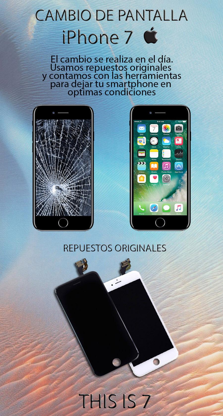 Modulo Display iPhone 7 +colocación