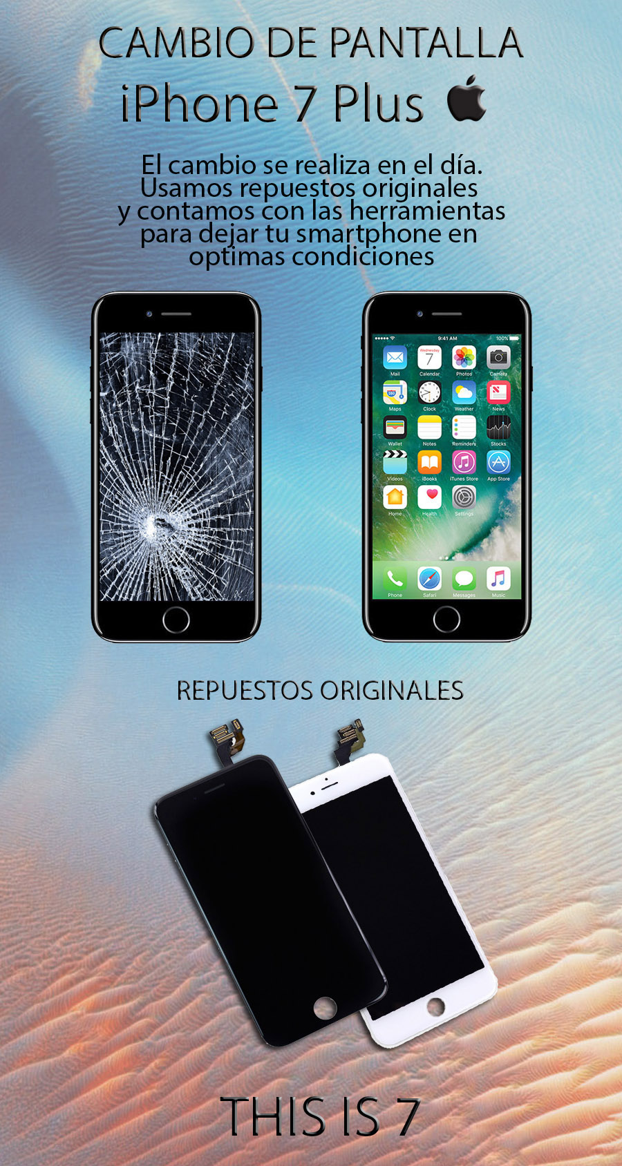 Modulo Display iPhone 7 Plus +colocación