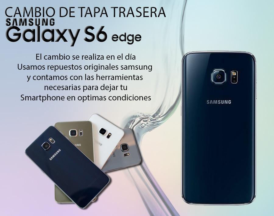Tapa Trasera Repuesto Original Vidrio Galaxy S6 Edge