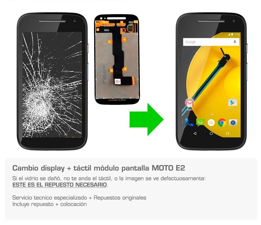 Display pantalla moto E2