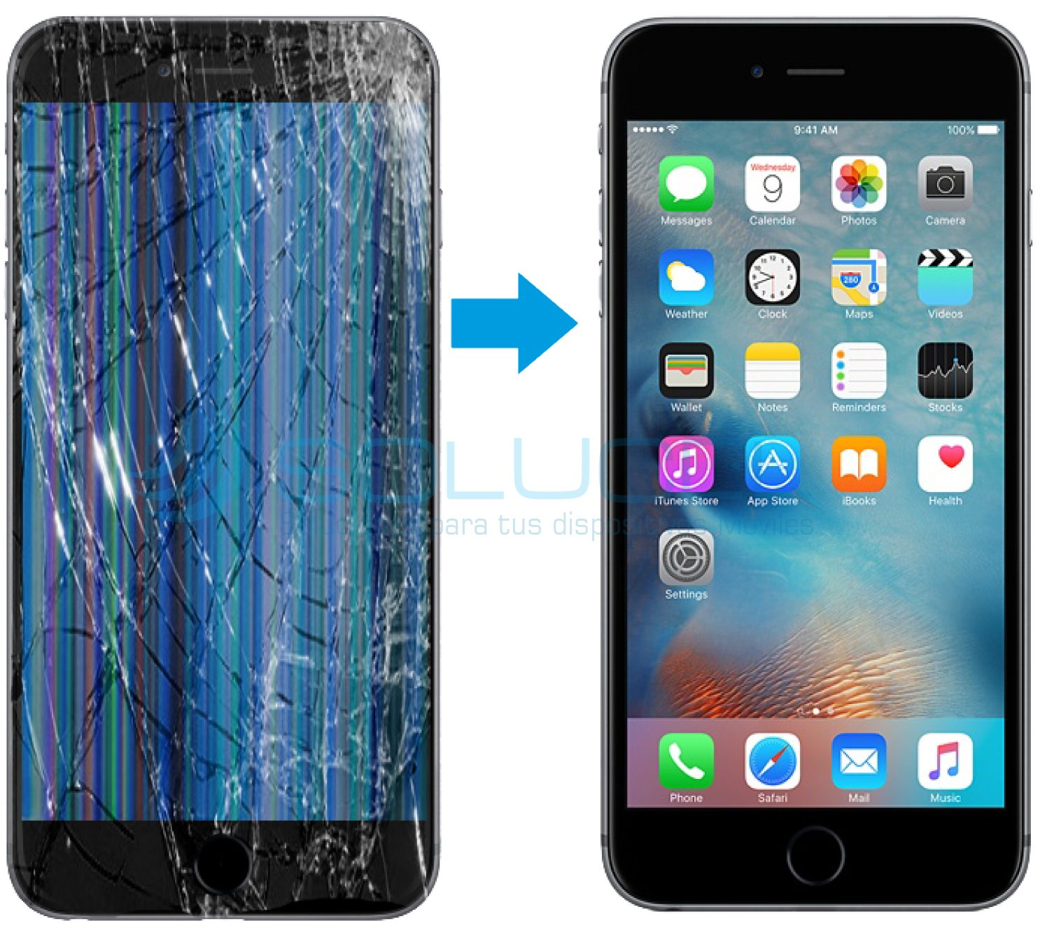 16faf264f8b Cambio de Display LCD, vidrio y modulo táctil iPhone 6s Plus – Solucel
