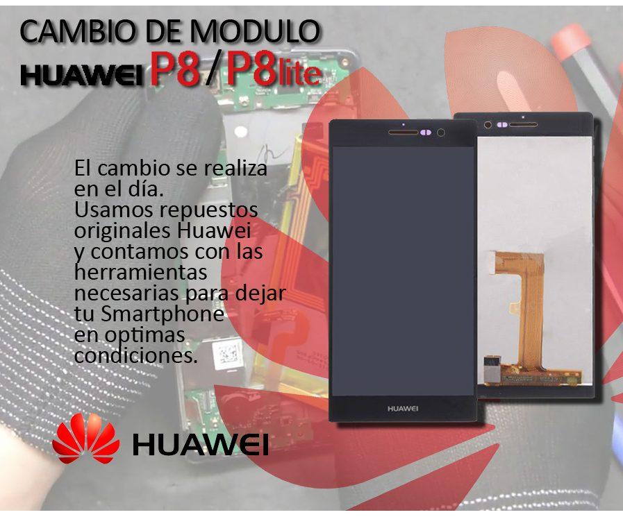 Cambio Modulo Display Tactil Pantalla Lcd Huawei P8/ P8 Lite