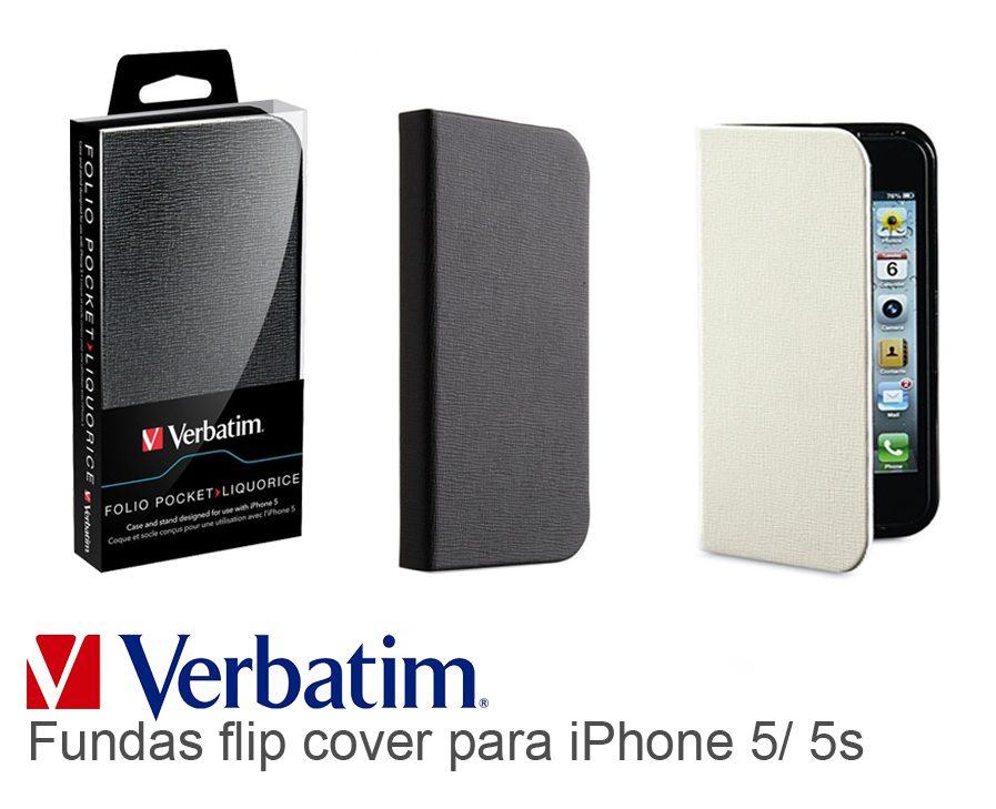 Funda Flip Cover Iphone Se/5/5s Verbatim Folio Pocket