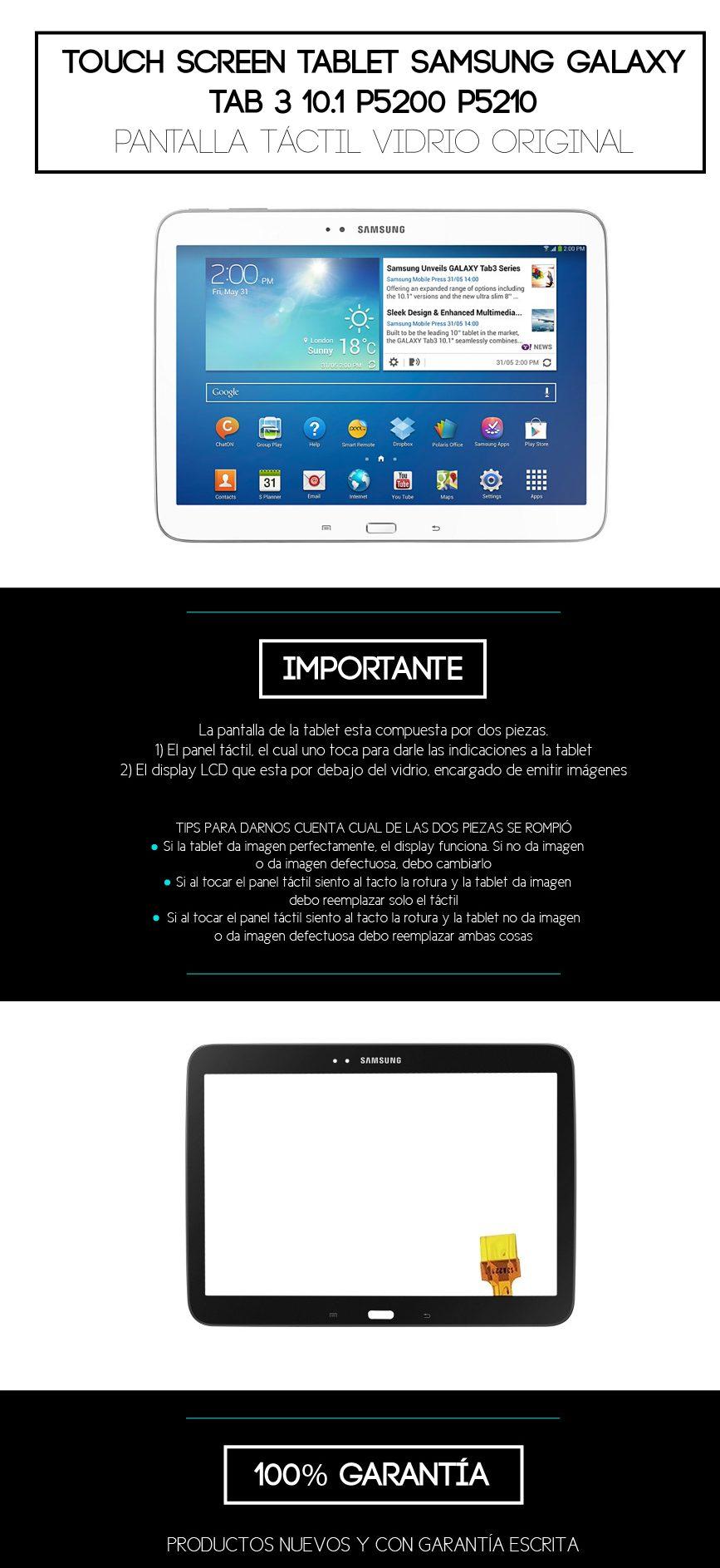 Cambio Vidrio Touch,tactil Samsung Galaxy Tab3 10 P5200/10