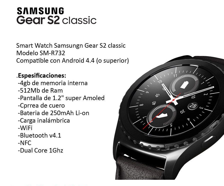 Smart Watch Samsung Gear S2 M R732 Original Nuevo