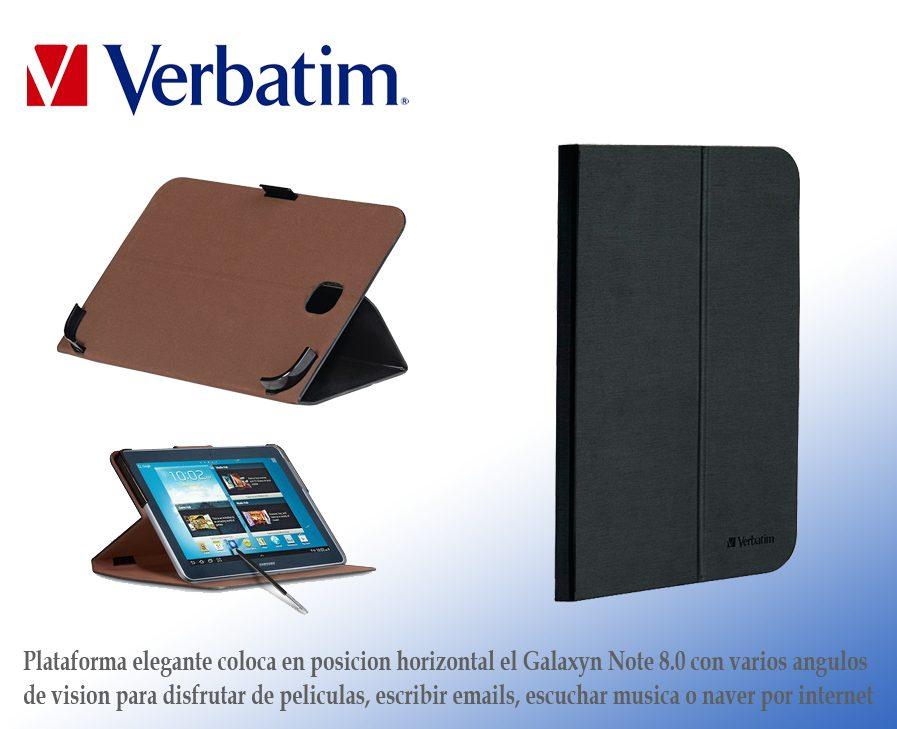 Funda Folio Case Verbatim Galaxy Note 8.0 Nuevo