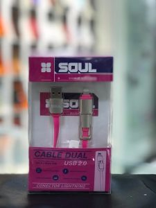 Cable Micro Usb + Lighting Usb Soul 2 En 1
