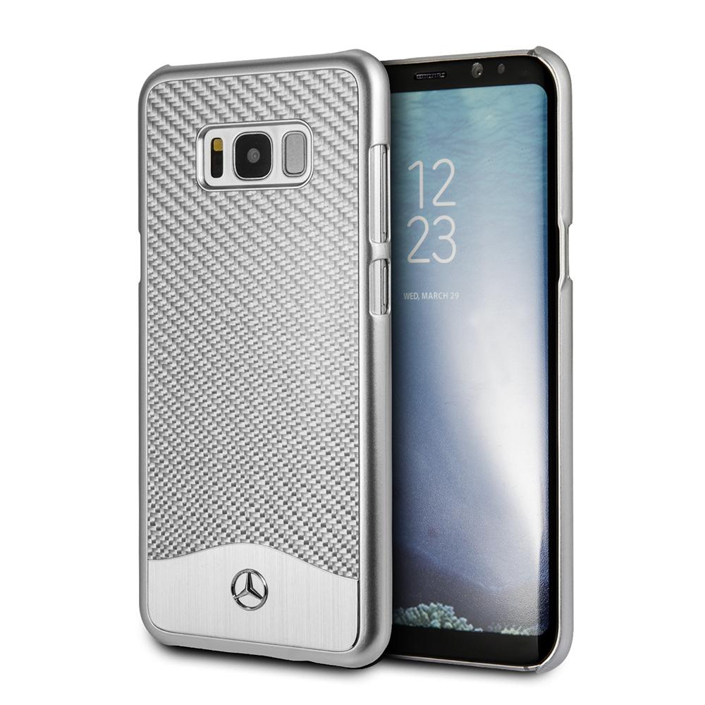 Funda Case Premium Mercedes Benz de Aluminio Y Carbono para Samsung S8 Plus