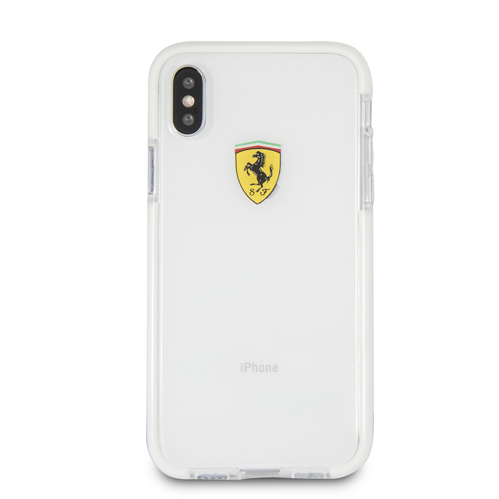 4e7aff44a2b Funda Case Premium Ferrari Silicona Transparente para iPhone X Local ...