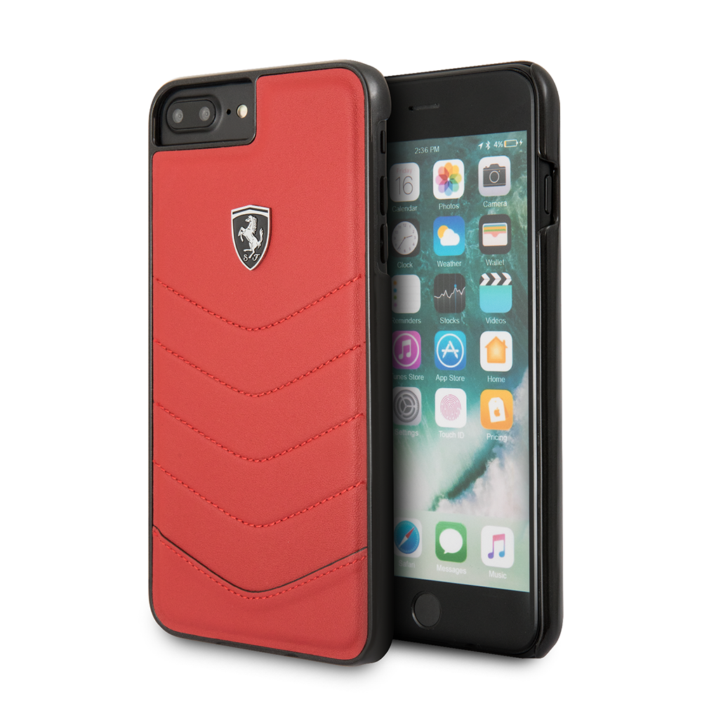 Funda Case Premium Ferrrari De Cuero Genuino Trama de Ondas para Iphone 8,7,6s,6 Plus