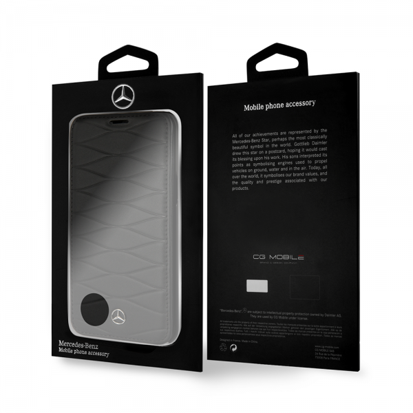 funda-Mercedes Benz-negro-patron-lineas